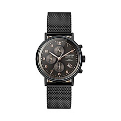 Hammond & Co. by Patrick Grant - Men's chronograph watch with black Milanese strap