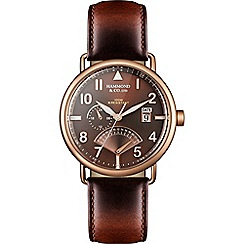 Hammond & Co. by Patrick Grant - Men's watch with brown leather strap