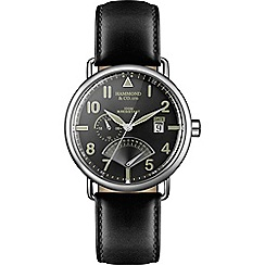 Hammond & Co. by Patrick Grant - Men's watch with black leather strap