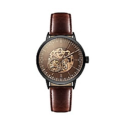 Hammond & Co. by Patrick Grant - Men's mechanical watch with brown leather strap