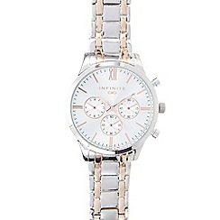 Infinite - Ladies stainless steel bracelet mock chronograph watch