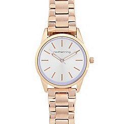 Red Herring - Ladies rose gold plated analogue watch