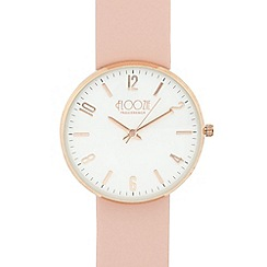 Floozie by Frost French - Ladies light pink slim leather strap watch