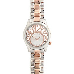 Red Herring - Ladies stainless steel bracelet number cutout watch