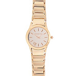 Red Herring - Ladies rose gold plated bracelet analogue watch