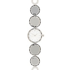 Red Herring - Ladies silver plated gem bracelet watch