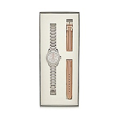 Red Herring - Ladies' silver linked bezel watch