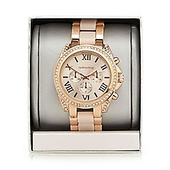 Red Herring - Ladies rose gold linked watch