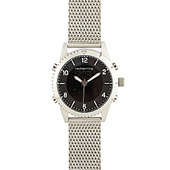 Red Herring - Men's silver plated mesh watch
