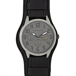 Red Herring - Mens black 'St Pilot Cuff' watch