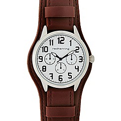 Red Herring - Mens brown 'St Pilot Cuff' watch