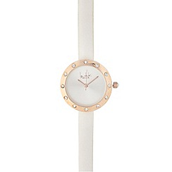 Principles by Ben de Lisi - Ladies white diamante bezel watch