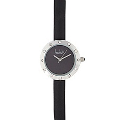 Principles by Ben de Lisi - Ladies black diamante bezel watch