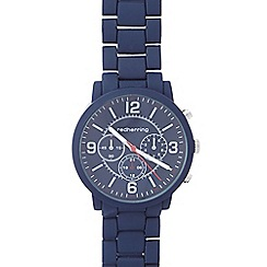 Red Herring - Men's navy bracelet mock chronograph watch