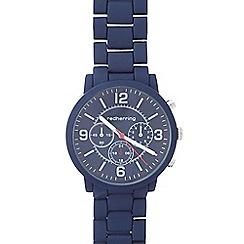 Red Herring - Men's navy bracelet mock chronograph watch