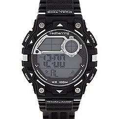 Red Herring - Men's black bracelet digital watch