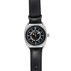 Red Herring - Men's black exposed date watch