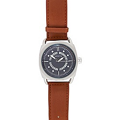 Red Herring - Men's brown exposed date watch