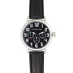 Red Herring - Men's black mock multi dial watch