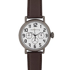 Red Herring - Men's brown mock multi dial watch