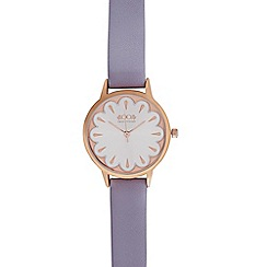 Floozie by Frost French - Ladies lilac scalloped dial watch