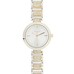 Infinite - Ladies silver plated crystal encrusted watch
