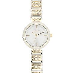 Infinite - Ladies silver plated crystal encrusted watch