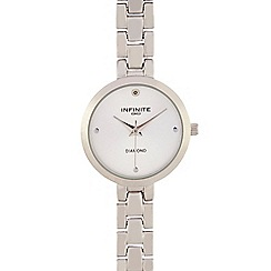Infinite - Ladies' silver plated analogue watch