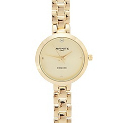 Infinite - Ladies' gold plated analogue watch