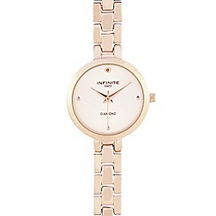 Infinite - Ladies rose gold plated analogue watch