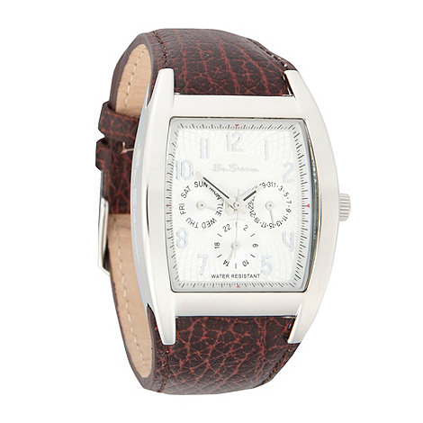 Ben Sherman - Men+s brown engraved dial watch