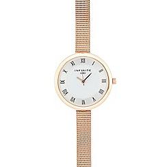 Infinite - Ladies rose gold plated mesh analogue watch