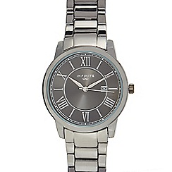 Infinite - Gents dark grey bracelet analogue watch