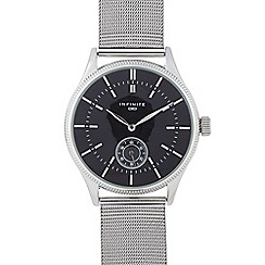 Infinite - Gents silver plated mesh watch