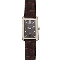 Infinite - Men's brown snakeskin-effect strap watch
