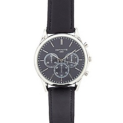 Infinite - Gents navy mock multi dial watch