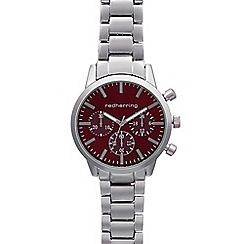 Red Herring - Gents silver plated mock multi dial watch