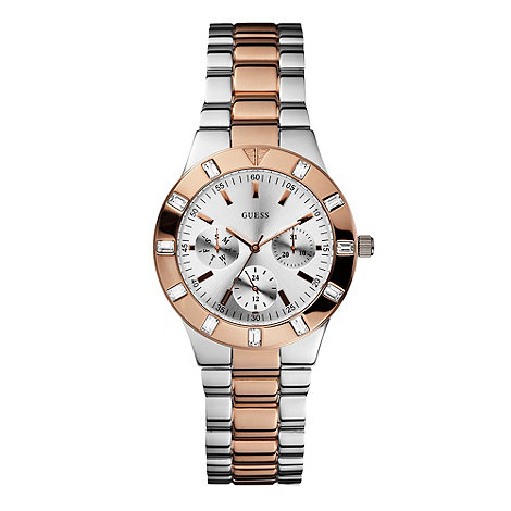 Guess - Ladies rose three row bracelet watch