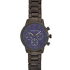 Red Herring - Gents dark grey bracelet mock multi dial watch
