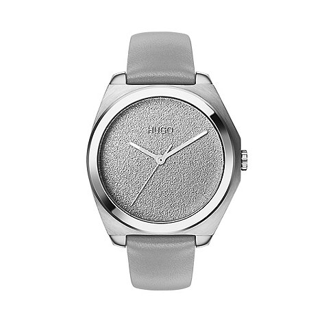 Guess - Ladies silver stone set bracelet watch