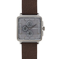 Red Herring - Men's brown mesh square mock multi dial watch
