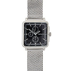 Red Herring - Men's silver plated mesh square mock multi dial watch