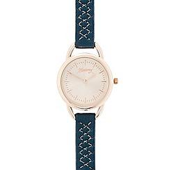 Mantaray - Ladies green cross stitch analogue watch