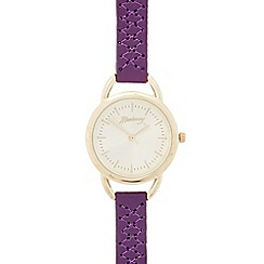 Mantaray - Ladies purple cross stitch analogue watch