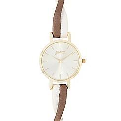 Mantaray - Ladies brown crossover analogue watch