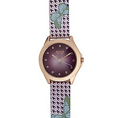 Floozie by Frost French - Ladies purple dogtooth analogue watch