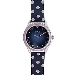 Floozie by Frost French - Ladies navy polka dot analogue watch