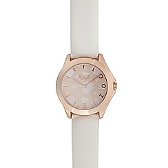 Floozie by Frost French - Ladies white heart analogue watch