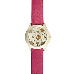 Floozie by Frost French - Ladies pink heart analogue watch