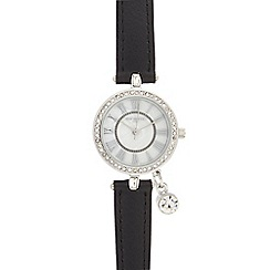 Infinite - Ladies black charm watch